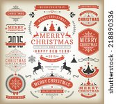 christmas decoration vector... | Shutterstock .eps vector #218890336