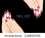 Постер, плакат: Colorful Nail Art Trendy