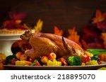 thanksgiving turkey   Shutterstock . vector #218895070