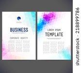 abstract vector template design ... | Shutterstock .eps vector #218899786