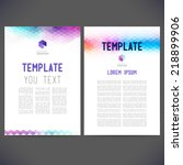 abstract vector template design ... | Shutterstock .eps vector #218899906
