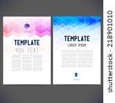 abstract vector template design ... | Shutterstock .eps vector #218901010