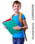 portrait of a smiling pupil of... | Shutterstock . vector #218903098