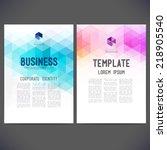 abstract vector template design ... | Shutterstock .eps vector #218905540