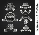 vintage labels collection.... | Shutterstock .eps vector #218908894