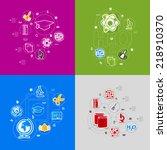 education sticker infographic | Shutterstock .eps vector #218910370