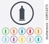 condom safe sex sign icon. safe ... | Shutterstock . vector #218913373