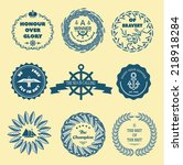 nautical design elements | Shutterstock .eps vector #218918284