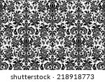 Stock vector seamless background damask ornate vintage background 218918773