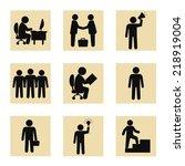 stock vector business people... | Shutterstock .eps vector #218919004