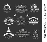 christmas decoration set of... | Shutterstock .eps vector #218920489