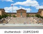 Stock photo philadelphia art museum entrance pennsylvania usa 218922640