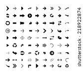 arrow sign icon set. modern...
