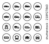 cars icon set | Shutterstock .eps vector #218927860