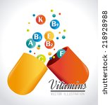 vitamins design over white... | Shutterstock .eps vector #218928988