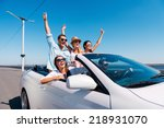 nothing but friends and road... | Shutterstock . vector #218931070