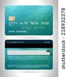 templates of credit cards... | Shutterstock .eps vector #218932378