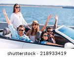 great day for a ride. group of... | Shutterstock . vector #218933419