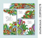 collection of decorative floral ... | Shutterstock . vector #218934178