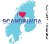 scandinavia | Shutterstock .eps vector #218934949