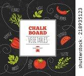 chalkboard vegetables   Shutterstock .eps vector #218935123