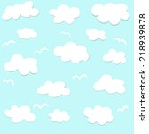 seamless pattern with clouds    Shutterstock .eps vector #218939878