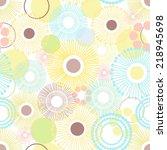 dandelion floral pattern.   Shutterstock .eps vector #218945698