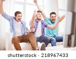 friendship  sports and... | Shutterstock . vector #218967433