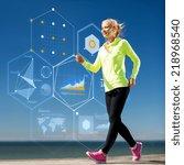 sport  training  technology and ... | Shutterstock . vector #218968540
