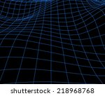 abstract cyberspace grid.... | Shutterstock .eps vector #218968768