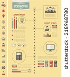 Vector technology infographic timeline. Infographic template for technology timeline design. Infographic Includes vector elements: diagrams, charts, bars, technology icon set, infographic metaphors. - stock vector