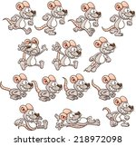 cartoon mouse ready for... | Shutterstock .eps vector #218972098