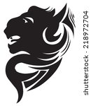 tattoo design of wild panther... | Shutterstock .eps vector #218972704