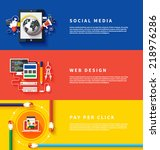 icons for web design  seo ... | Shutterstock .eps vector #218976286