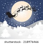 merry christmas greeting card... | Shutterstock .eps vector #218976466