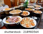 table with catering food | Shutterstock . vector #218983564