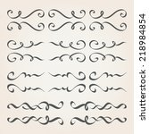 decorative curly elements 3 | Shutterstock .eps vector #218984854