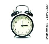 alarm clock on white background.... | Shutterstock . vector #218992330