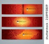 collection banner design ... | Shutterstock .eps vector #218993809
