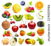 different type of fruits... | Shutterstock . vector #219005986