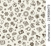 seamless texture with icons  ... | Shutterstock .eps vector #219008473