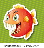 illustration of a fish with... | Shutterstock .eps vector #219023974