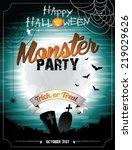 halloween illustration on a... | Shutterstock . vector #219029626