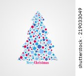 christmas tree with dots | Shutterstock .eps vector #219033049