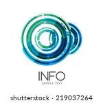 abstract futuristic design...   Shutterstock .eps vector #219037264