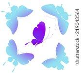 butterflies design | Shutterstock .eps vector #219043564
