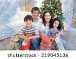 family christmas portrait... | Shutterstock . vector #219045136