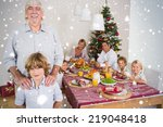 composite image of grandfather... | Shutterstock . vector #219048418