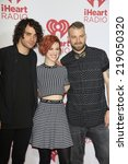 Small photo of LAS VEGAS - SEP 19: Taylor York, Hayley Williams, Jeremy Davis, Paramore at the iHeart Radio Music Festival Night 1 at MGM Grand Resort and Casino on September 19, 2014 in Las Vegas, NV