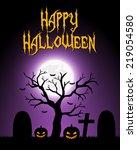 halloween card | Shutterstock .eps vector #219054580